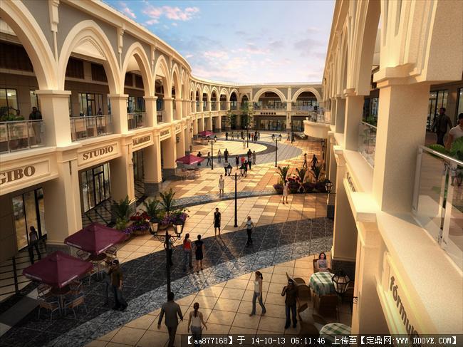 青岛奥特莱斯商业建筑设计效果图