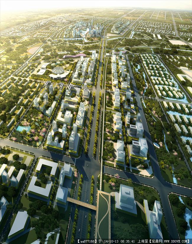 开封运粮河城市规划设计方案效果图