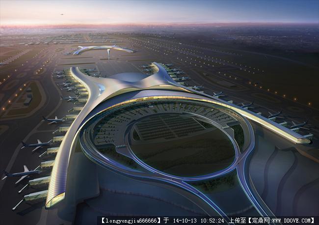 重庆飞机场建筑设计效果图