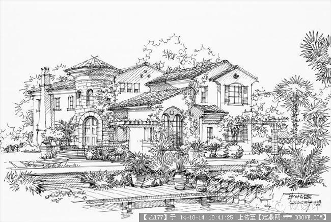 钢笔画多张的下载地址,园林效果图,手绘效果,园林景观图片