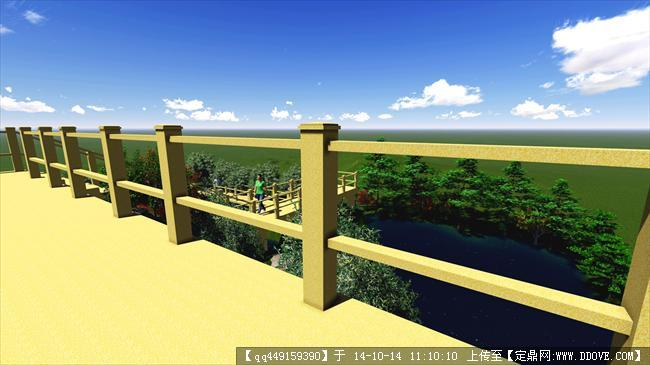 木栈道设计方案su模型