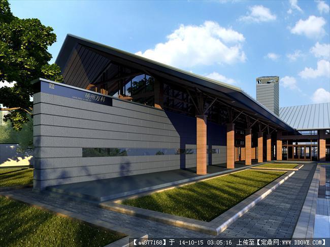 扬州会所方案一商业建筑设计效果图,很经典的设计方案,效果
