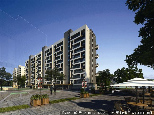 江阴高层居住建筑设计效果图,很经典的设计方案,效果图制作