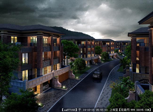 龙泉商业住宅建筑设计效果图