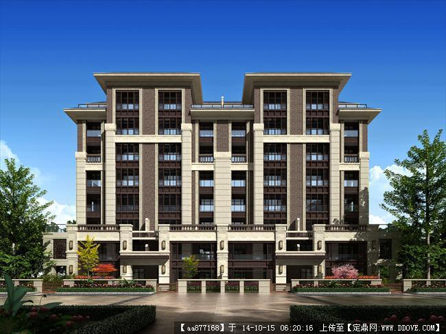 多层及小高层效果图居住建筑设计效果图