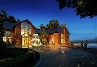 太湖会所商业建筑设计效果图