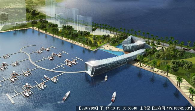 天津中澳游艇俱樂部商業建筑設計效果圖