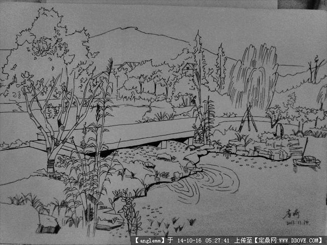 动漫和景观手绘效果图