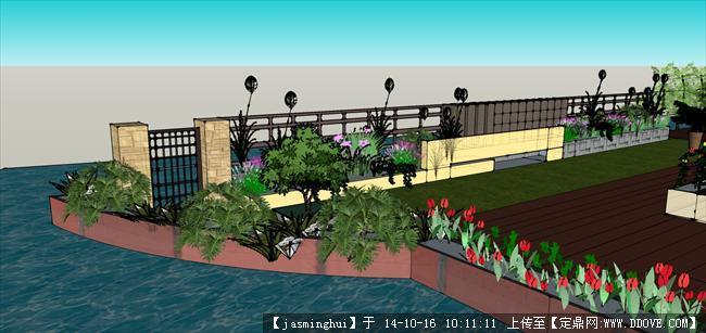 定鼎网 定鼎园林 园林项目案例 花园庭院 别墅庭院设计方案和su模型