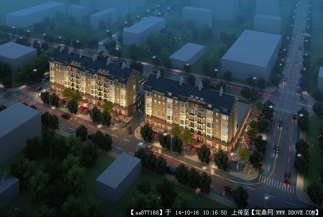 山东某多层住宅居住建筑设计效果图