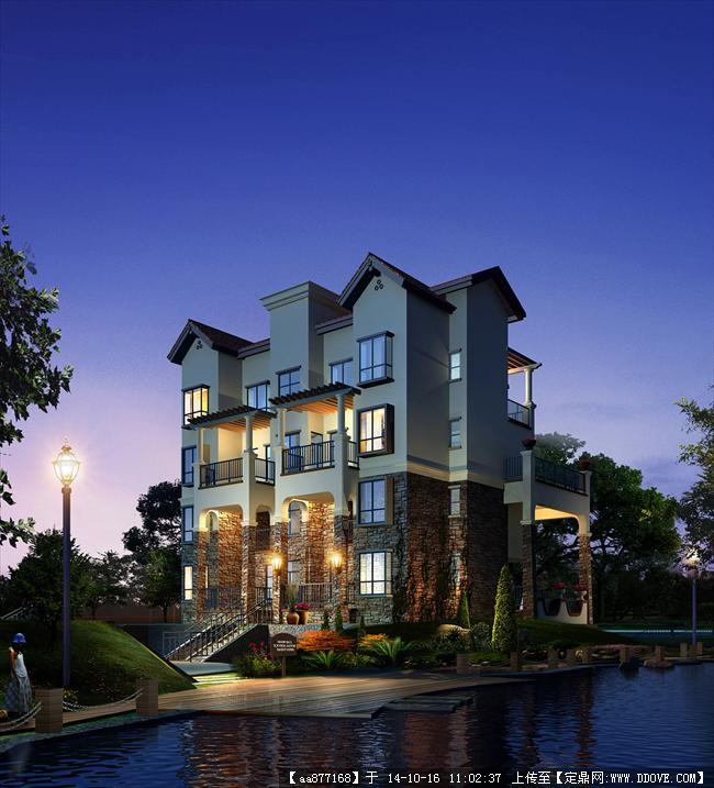 别墅 多层及小高层效果图3居住建筑设计效果图