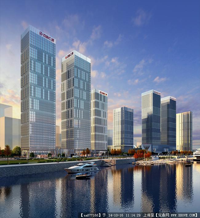 长沙开福万达方案建筑设计效果图