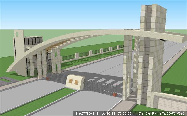 某工厂大门3d外观设计效果图