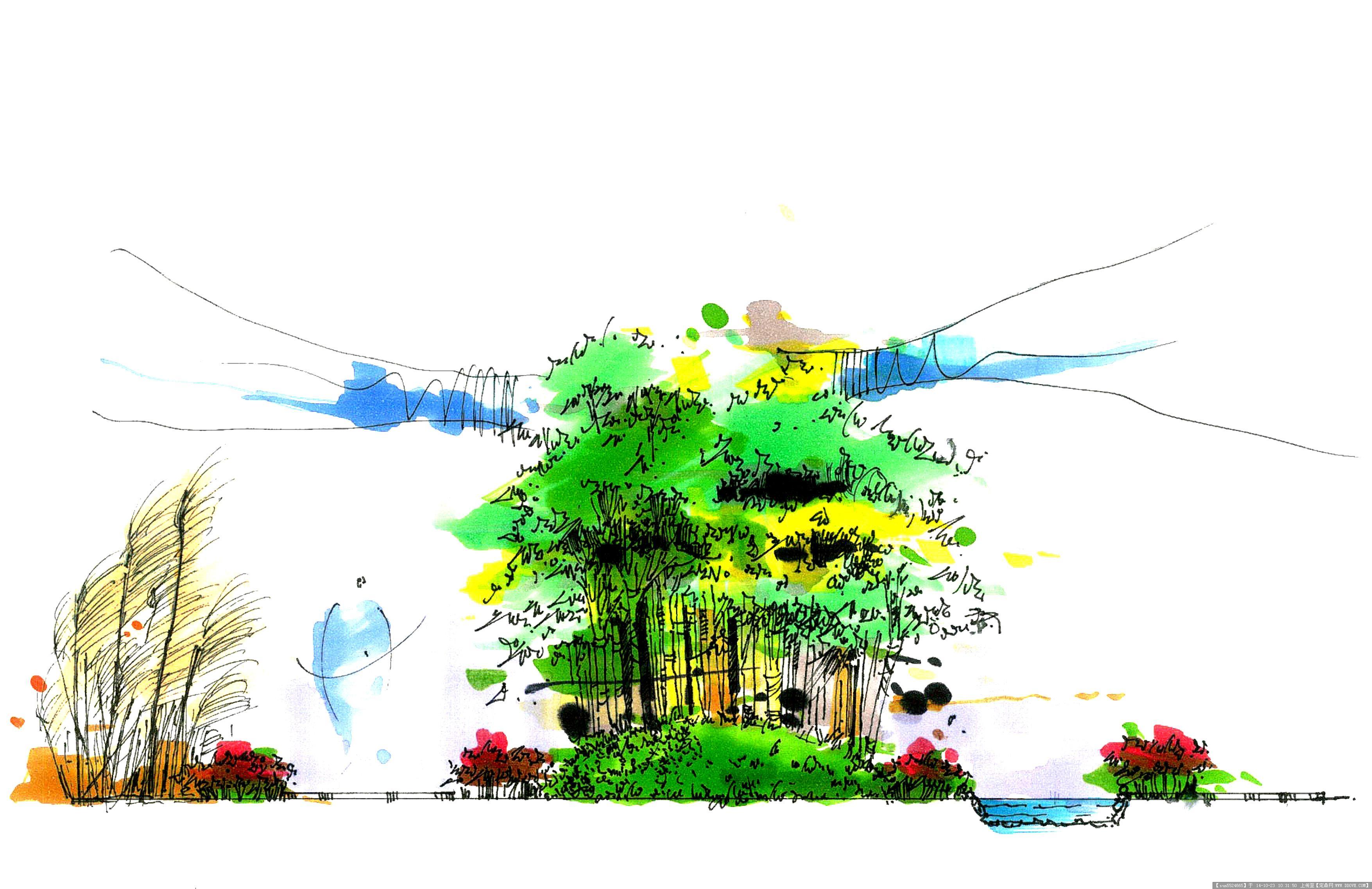几张精细马克笔手绘效果图的图片浏览
