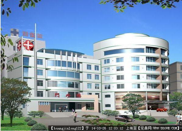 医院独栋建筑效果图,不同的医院建筑立面.