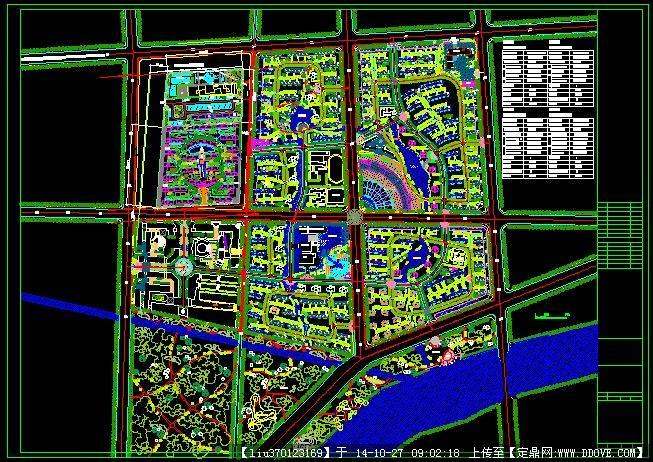 小区规划设计方案平面图