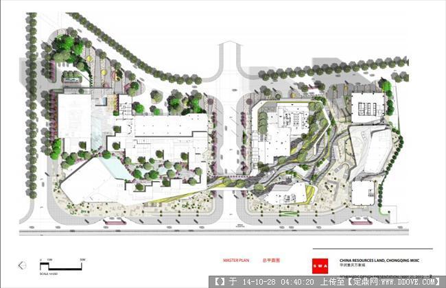 定鼎网 定鼎园林 园林方案设计 商业街区 华润万象城 -swa平面图