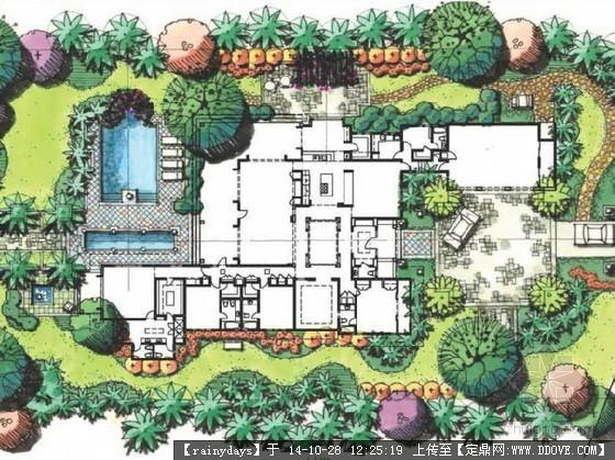 别墅庭院景观设计平面图