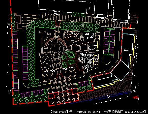 校园中心广场景观设计方案图,很详细的平面图,值得参考.