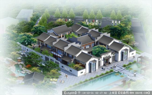 新中式四合院平面设计图