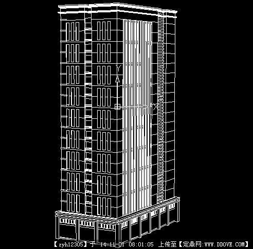 高层建筑设计立体cad图纸