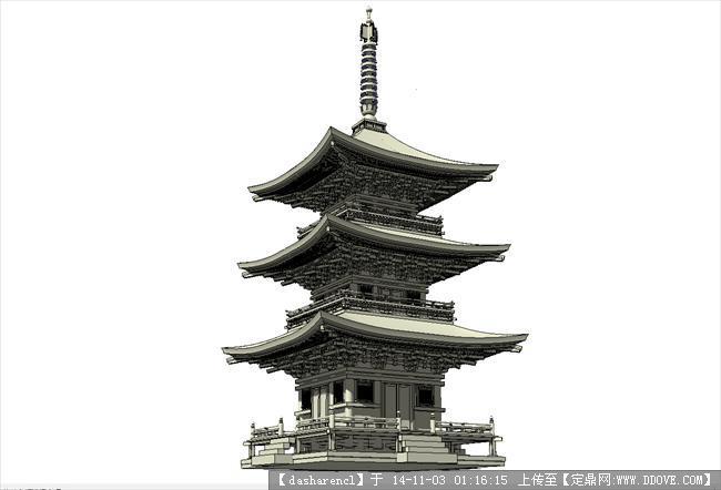 精细古建塔结构清晰可见.jpg