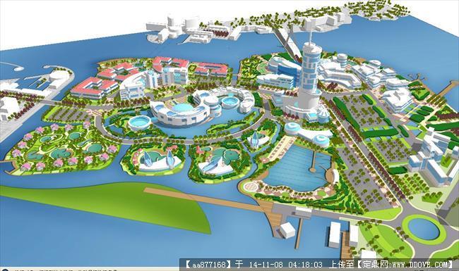 海岛旅游开发规划方案su精致设计模型