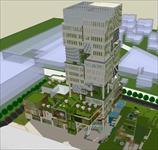 商业节能办公大厦建筑SU(草图大师)精致设计模型