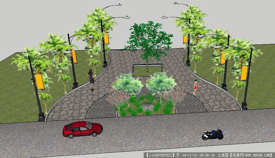 方形花坛设计图展示图片