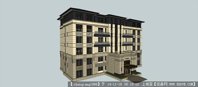 洋房13建筑設計方案su模型