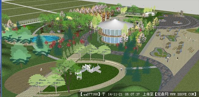 儿童公园景观方案精细sketchup设计模型