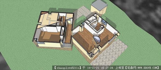 费舍住宅建筑su模型