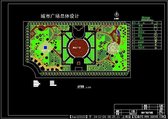 小广场植物配置平面图