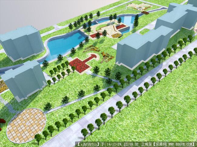 校园景观 农大北门园林景观规划设计案例