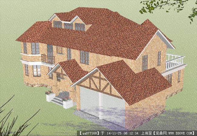 欧式别墅建筑方案精品sketchup设计模型图片