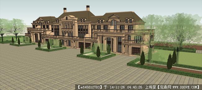 联排别墅院子设计图片展示图片