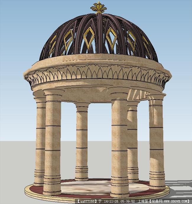 欧式景观圆亭精品sketchup设计模型