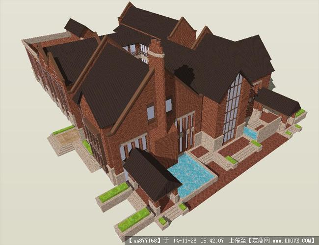 一个欧式贵族幼儿园精品sketchup设计模型