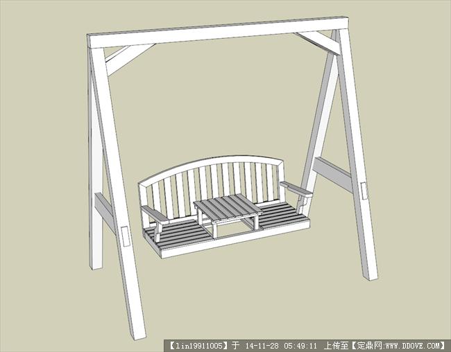 秋千,休闲座椅su模型