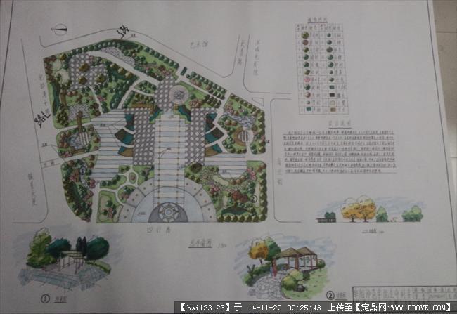 定鼎园林 园林效果图 手绘效果 原创市政广场,多处高清详细铺装小游园