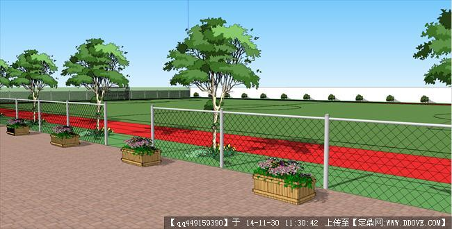 足球场景观设计方案含su模型的下载地址图片