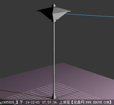园林路灯设计su模型