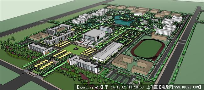 大学校园规划全套,内涵多个院校设计.