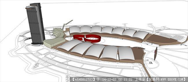 某会展中心概念设计方案su模型