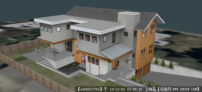 农村自建房模型