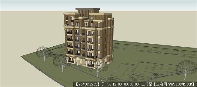 欧式房屋建筑模型