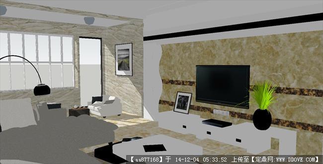 豪华欧式户型装潢方案sketchup精细设计模型