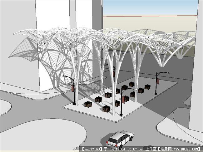 抽象建筑模型
