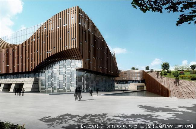 某文化中心建筑设计方案su精致模型