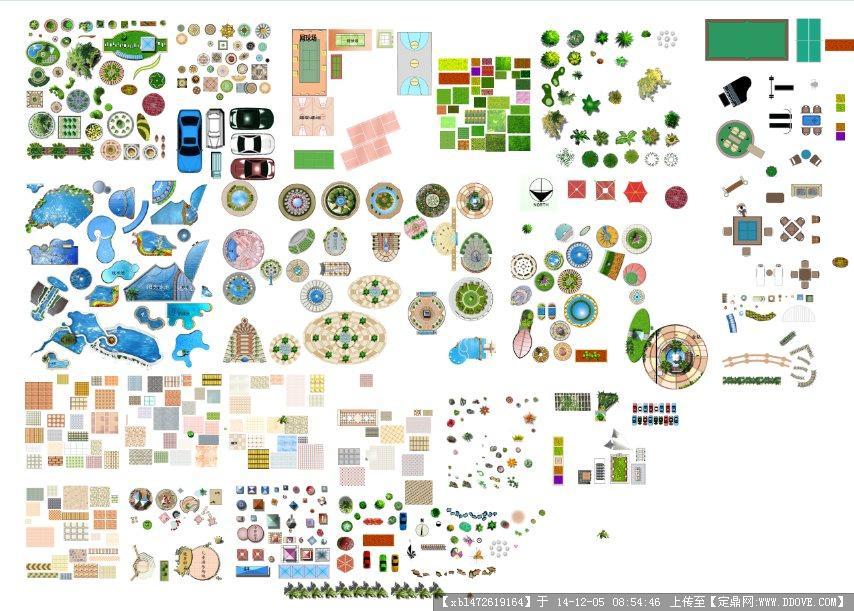 广场铺装psd图例的下载地址,配景素材,综合素材,园林图片